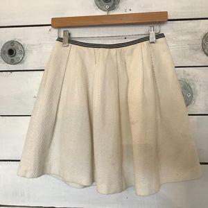 Forever 21 White School Girl Mini Skirt